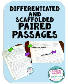 I have students who struggle with paired passages so I created this resource as a way to scaffold and differentiate for those learners.