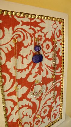 Decorative Cork Board Jewelry Organizer by OnlyLally on Etsy, $38.00