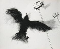 crow drawing I by soli_andtiz, via Flickr