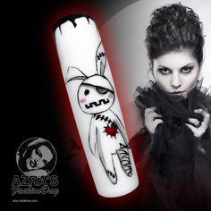"abc nailstore präsentiert:  Azra's Fashion Day: So kann die Halloweenparty kommen! Nailart ""scary rabbit"" #halloween #happy #rabbit #nails #nailart #Halloweenparty #abcnailstore"