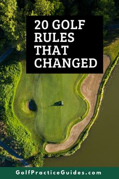 Here are 20 golf rules that changed recently and you may want to read this article to brush up your knowledge of what's different than it used to be on the golf course. Click to read on GolfPracticeGuides.com #golf #golfrules