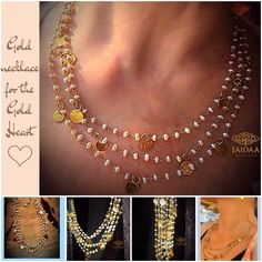 This piece is great to be worn for night-outs and special occasions where you can show off your inner fashionista. #Gold #pearl #coins #madewithlove #dearfriend  JAIDAA....Revealing Uniqueness