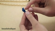 Attach a jump ring to ribbon - video tutorial from Beadaholique