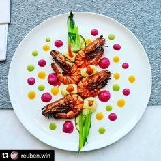 #Repost @reuben.win with @repostapp.  grilled prawn | pakchoy | zucchini | baby carrot | horseradish | beetroot | aioli | mint peas  #reubenwin #mandorpawon #food #foodie #instafood #myroundplate  #tastefullyartistic #foodporn #thestaffcanteen #foodpics #foodpicoftheday #foodgasm #foodknockout #foodphotography #expertfood #instagramfood #instagood #cheflife #gourmetartistry #theartofplating #chefsofinstagram  #masakanAingkumahaAing by vionnyrose