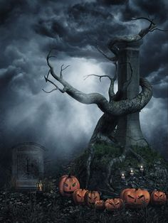 200cm150cm photography background Clouds withered pumpkin  halloween backdrop backgrounds for photo studio WSJ-051