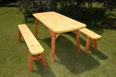 NEW! The 6' Picnic Table w/ Detached Benches. Made in Michigan! Part of our Winter Sale through 2-28-2014 COUPON CODE: WINTER10