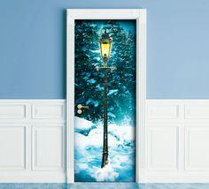 Sticker for Door / Wall / Fridge Narnia lamp Post. by Recallart Narnia Lamp Post, Door Murals, The Doors, Door Stickers, Wardrobe Doors, Room Doors, Door Wall, Door Handles, Interior Decorating