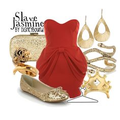 Slave Jasmine, created by lalakay on Polyvore #disney
