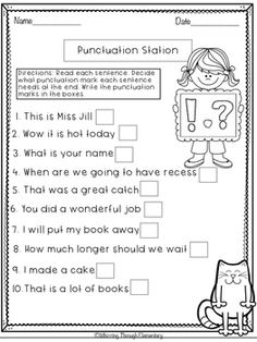 punctuation worksheets put the correct punctuation mark 3 turtle diary 1st grade ela. Black Bedroom Furniture Sets. Home Design Ideas