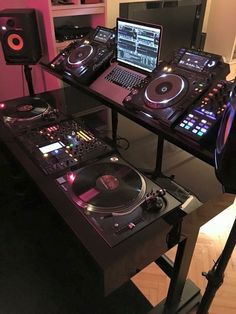 ideas music studio booth products for 2019 Electro Music, Music Production Equipment, Dj Dj Dj, Dj Stand, Dj Table, Home Music, Sound Room, Music Studio Room, Dj Setup