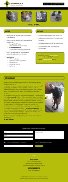 An Wens Webdesign - Health And Hoof Care Web Design, Health, Design Web, Health Care, Website Designs, Site Design, Salud