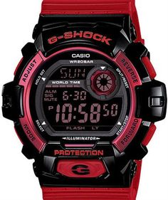 Red and Black G-Shock Watch
