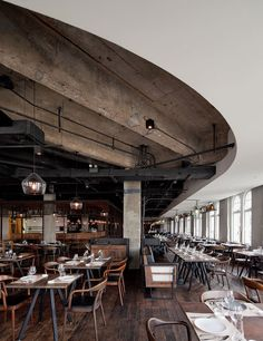Mercato Italian Restaurant in Shanghai on the Bund. Design Neri & Hu