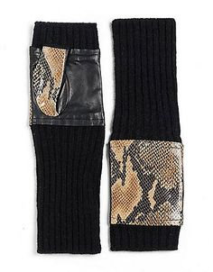 Python Fingerless Gloves | Lord and Taylor 150$
