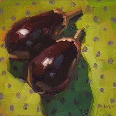 "Daily Paintworks - ""Eggplant Excursion"" - Original Fine Art for Sale - © Carol Marine"