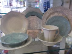 My new dishes!! Merletto by Arte Italica...I got to purchase them directly from the factory...love Italy!