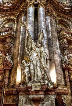 Prague - Interior of Church of St Nicholas I by pingallery.deviantart.com on @deviantART