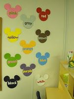 Mickey Mouse Color Words #Teach #Teaching #ClassroomDecor #Decor #Decorate #Decorations #Disney #DIY
