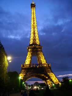 Gorgeous night shot of of the Eiffel Tower taken by a guest of Viking River Cruises :)