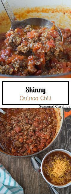 Skinny Quinoa Chili (Gluten Free) - a weeknight favorite at our house. Sign up…