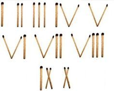 Roman Numbers – A fun one minute party game where players have to create roman numbers with matchsticks in one minute.