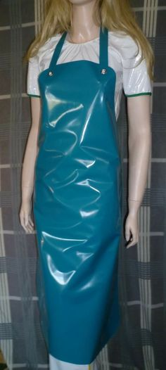 Plastic Aprons, Pvc Apron, Rubber Doll, Rubber Gloves, Rain Wear, Blouse, Work Wear, Latex, Twisted Humor