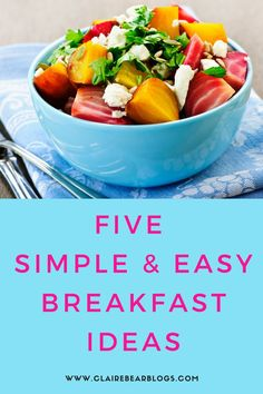 Not sure what to eat everyday? Here are 5 simple, easy, and healthy breakfast ideas for your busy morning. Breakfast is the most important meal of the day! Healthy Menu, Healthy Breakfast Recipes, Healthy Eating, Breakfast Meals, Morning Breakfast, Healthy Breakfasts, Good Food, Yummy Food, Yummy Recipes