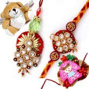 BHAIYA-BHABHI #RAKHI WITH 2 CUTE TEDDY AND GIRL KIDS #RAKHIS Raksha Bandhan Gifts, Rakhi, Drop Earrings, Christmas Ornaments, Holiday Decor, Cute, Flowers, Kids, Young Children