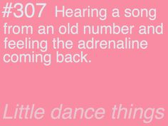 all dancers can relate :)