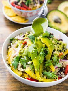 Black Bean Quinoa Bowl with Cilantro Honey Lime Vinaigrette