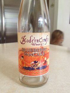 So good! Modern Craft Winery in Harrisville, MI Blueberry Pancake wine- actually love their new Scarlet fudge wine