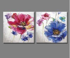 Paars blauw bloemen en Vlinder olieverf Home Decor Schilderij Schilderijen voor woonkamer in Paars blauw bloemen en Vlinder olieverf Home Decor Schilderij Schilderijen voor woonkamer van Schilderen & Kalligrafie op AliExpress.com | Alibaba Groep