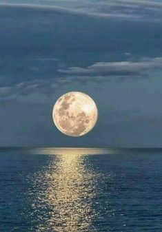 Super Moon Over The Ocean