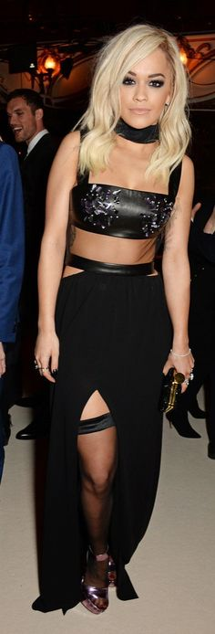 Rita Ora showed some skin in a sexy Tom Ford dress
