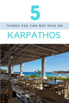 [Blog also in Dutch] 5 things you can not miss when you are on Karpathos, Greece.