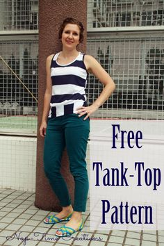 free tank top #sewing #pattern, light on photos, but includes a written #tutorial