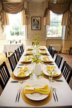 Yellow wedding table decor...