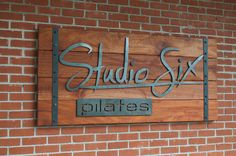 wood and metal sign - Google Search