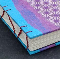 Closeup of Mellow Mood Journal handmade by Ruth Bleakley