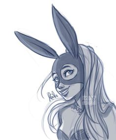 Warmup doodle of the cutest bunny