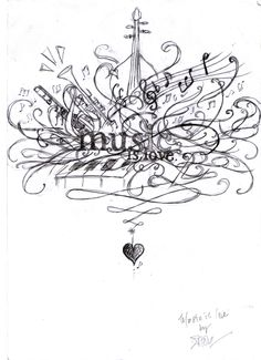 MUSIC IS LOVE.  by ~zhoumlh  Traditional Art / Drawings / Miscellaneous