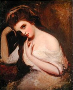 Emma Hamilton by George Romney. The Duke of Wellington's Mistress. Painter Romney's Muse....