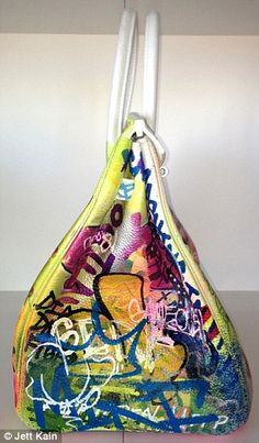 Side views: After Mr Kain showed Mint & Serf the plain white Hermes bag, they came up the idea of the Mirfkin