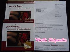 """I tested the book """"persönliches Geschenkbuch für erotische Stunden"""". And also you can win one exemplar."""