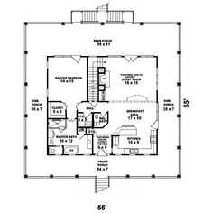 The Howell Creek Raised Coastal Home has 3 bedrooms, 2 full baths and 1 half bath. See amenities for Plan 087D-1557.