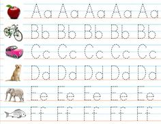 Printables Alphabet Handwriting Worksheets For Kindergarten alphabet worksheets and letters on pinterest set of 3 laminated number sheets for writing practice placemats preschool gift