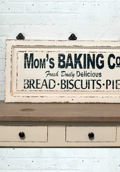kitchen plaques cabinets outlet 132 best signs images in 2019 wood wooden baking sign vintage bakery antique signage