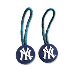 New York Yankees Zipper Pull Charm Tag Set Luggage Pet ID MLB by Aminco international. $8.92. This NCAA identification tag setisa perfect gift for any New York Yankees fan. Made of heavy duty plastic, these zipper pulls are washable and weather resistant. Use them toidentify your bag in a sea of luggage at baggage claim, to find your dog when he runs away, to show your pride while carrying your backpack, or to clip instantly onto zippers, making them easy to slide open (esp...