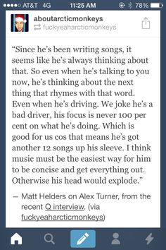 I love Alex even more for this. He's absolutely amazing and extremely talented, it'd be a dream to have a chat with him. I'd love to get inside his head