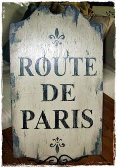 For Mom - French Vintage Sign